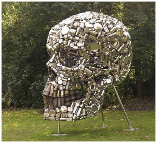 Skull-Sculpture-by-Subodh-Gupta-2
