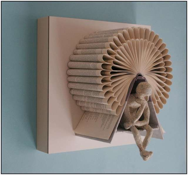 The Thinking Mans Book Sculptures by Kenjio