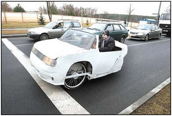Electric Car Built by a Belarusian Teenager